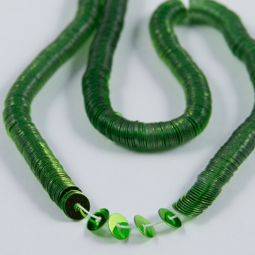Metallic lime flat sequin 4mm