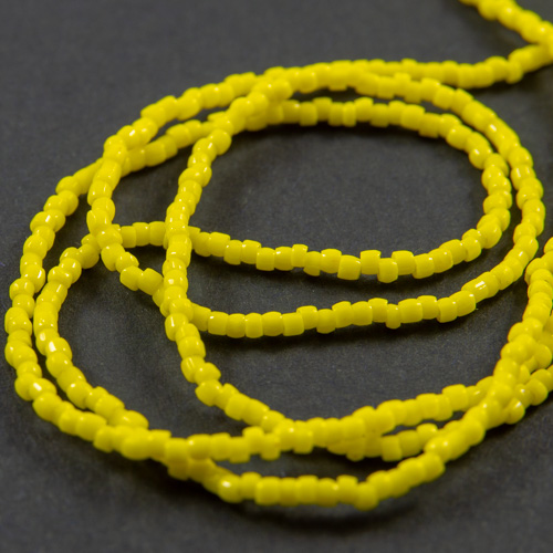 0148 12/0 3-cut bead yellow opaque