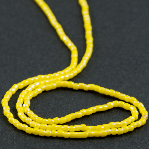 0190 12/0 3-cut bead opaque lustered yellow
