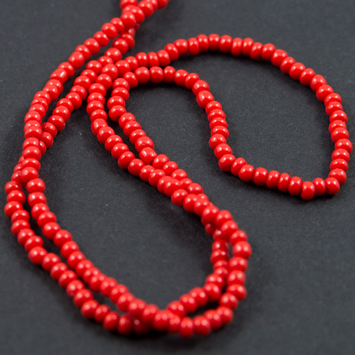 0202 13/0 sead bead red opaque