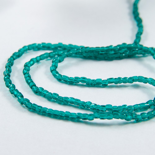 0108 12/0 3-cut bead transparent lustered emerald