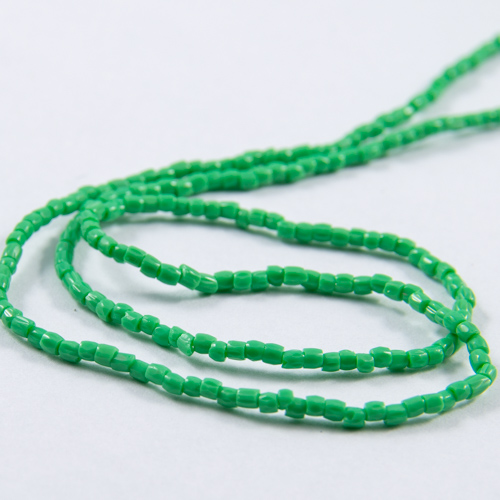 0280 12/0 3-cut bead green opaque