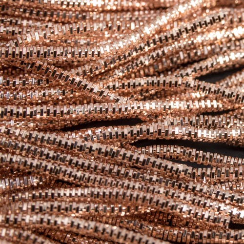 AA110. Rose gold bright check purl 1.3mm (3 metres)