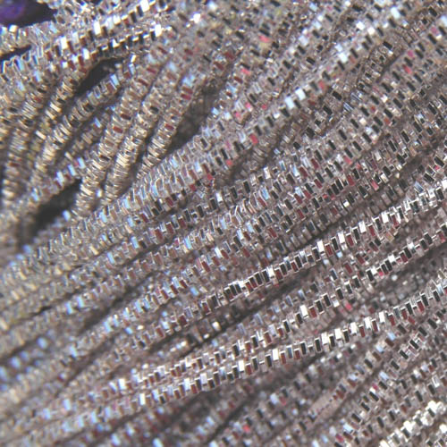 AA31. Silver color bright check purl 1.3mm (3 metres)