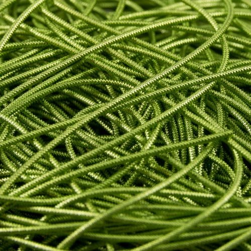 AE14. Lime green check purl 0.9mm (3 meters)