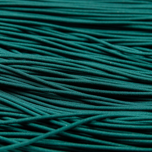 FV11. Dark green viscose pearl purl 1.2mm (3 meters)