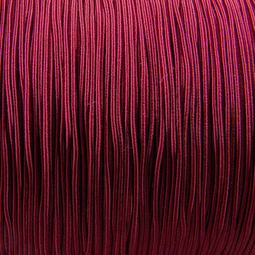 FV54. Bordeaux viscose gimp 1mm (5 meters)