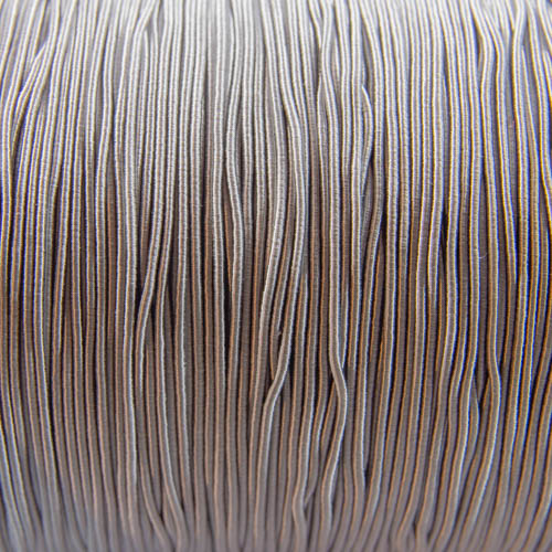 FV51. Light grey viscose gimp 1mm (5 meters)