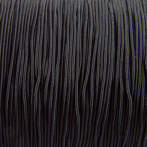 FV53. Black viscose gimp 1mm (5 meters)