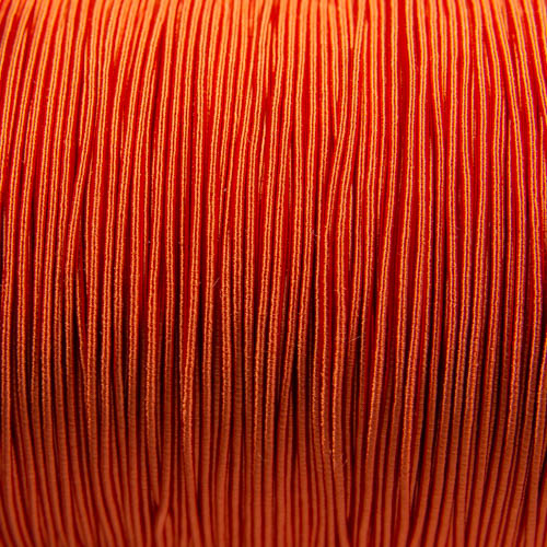 FV62. Ganse viscose orange 1mm (5 mètres)