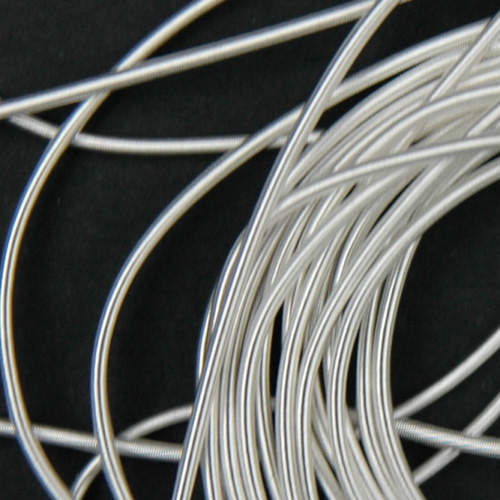 P46. Silver plated rough purl 0.6 mm (2.5 meters)
