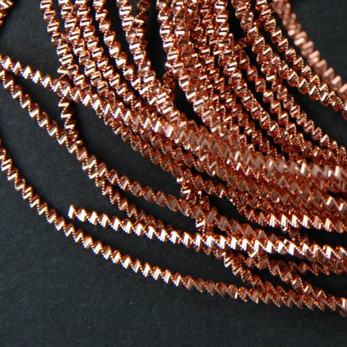 P47. Copper bright check purl 0.6 mm (1.75 meter)