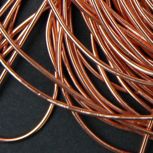 P02. Copper smooth purl 1mm (2.5 meters)