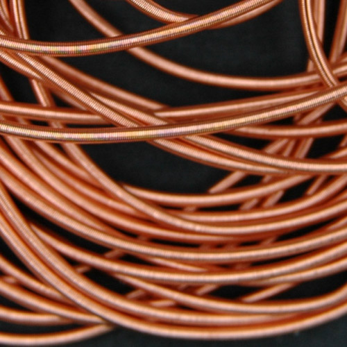 P01. Copper rough purl 1mm (2.5 meters)