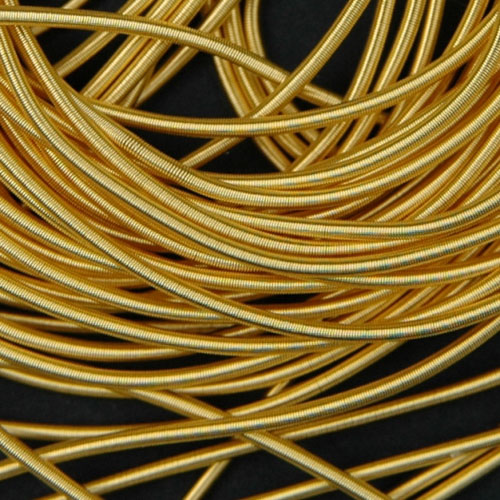 P35. Gilt rough purl 0.8 mm (1 meter)