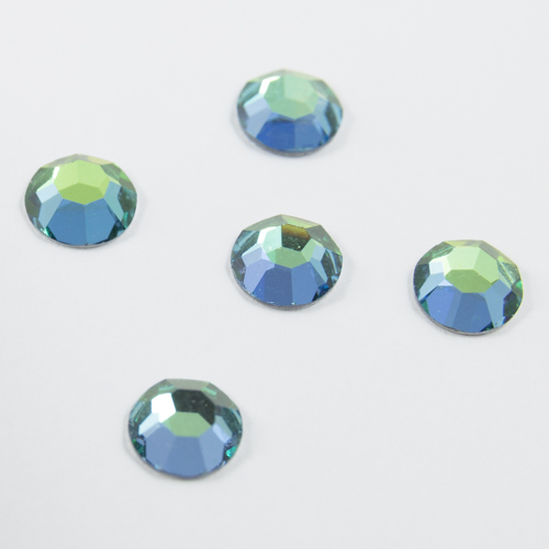C02. Sahara blue-green sew-on crystal 6.5mm