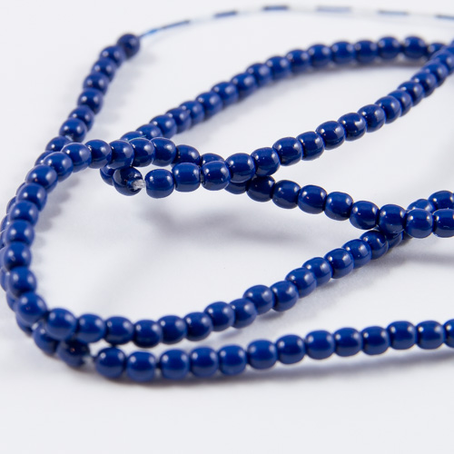 PR09. Perles rondes bleu royal 2mm
