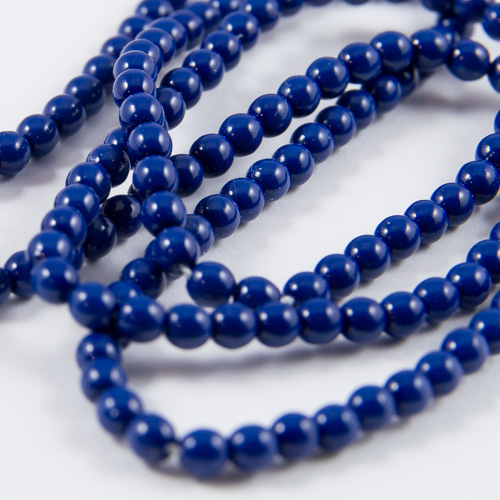 PR10. Perles rondes bleu royal 3mm