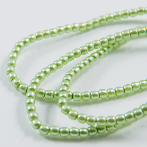PR42. Round bead mint green 2mm