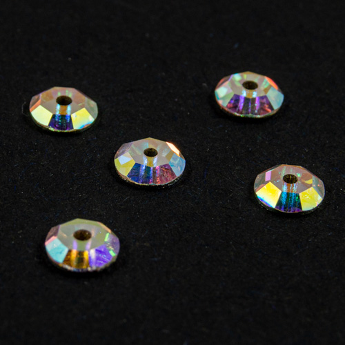 Preciosa Sequins Crystal AB 5mm (x12)